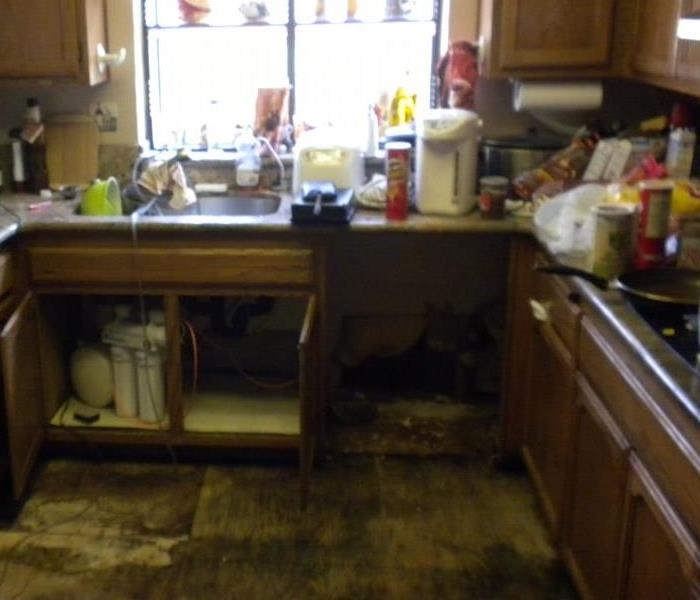 Kitchen Mold Removal in Brentwood, California Before